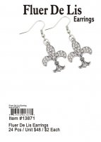 Fluer De Lis Earrings Wholesale