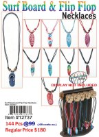 Wholesale Surf Board and Flip Flop Necklace