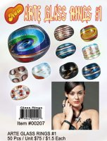 Wholesale Murano Arte Glass Rings Kit 1