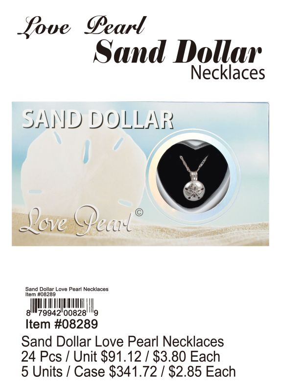 Sand Dollar Love Pearl Necklace - 24 Pieces Unit